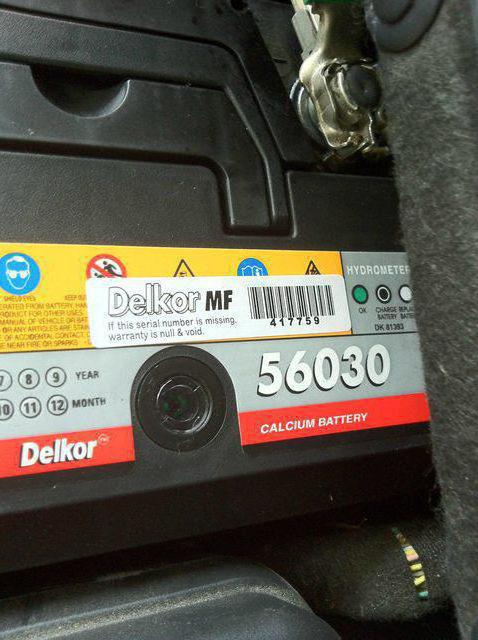 car battery delkor