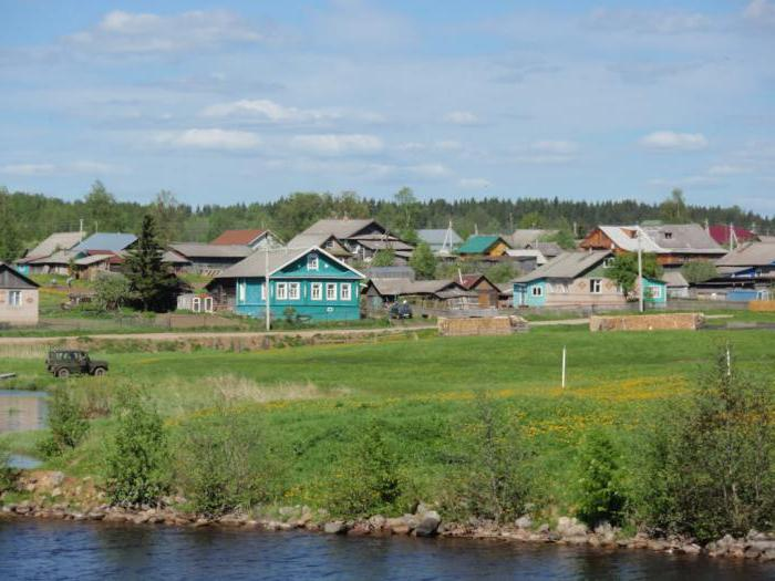 rural settlements of the region