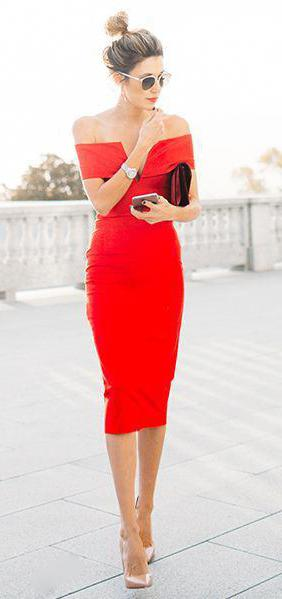 sheath dress red
