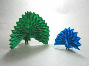 Origami. Birds