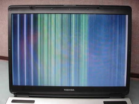 При включении ноутбука на экране полосы. Полосы на экране ноутбука