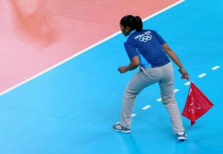 The main gestures of the judge in volleyball