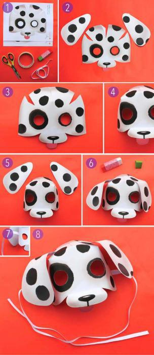 paper dog mask