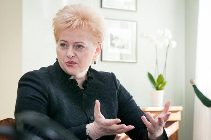 President of Lithuania Grybauskaite
