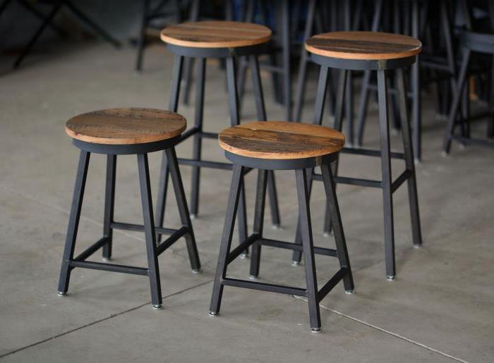 Барные стулья своими руками металл