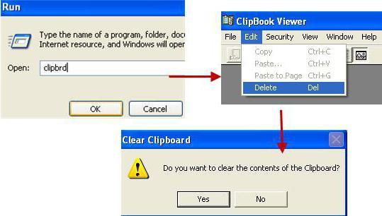 Где находится буфер обмен windows 7
