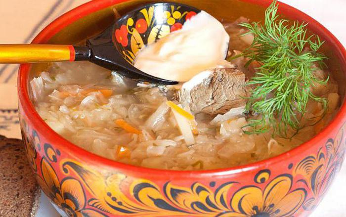 cabbage soup with frozen mushrooms and fresh cabbage