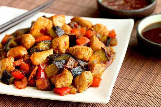 baked eggplants with chicken