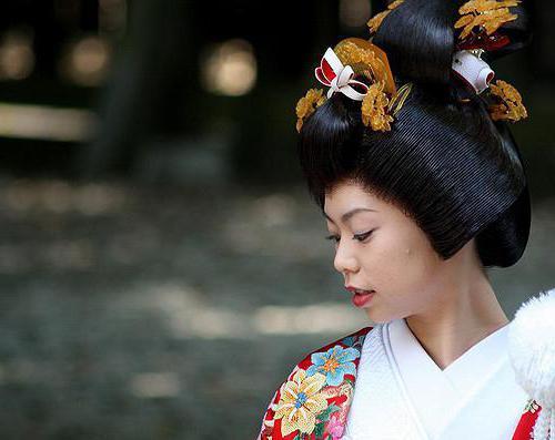 традиционные японские прически