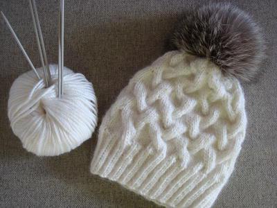 схемы вязания шапок с косами спицами пошаговая инструкция Sylru