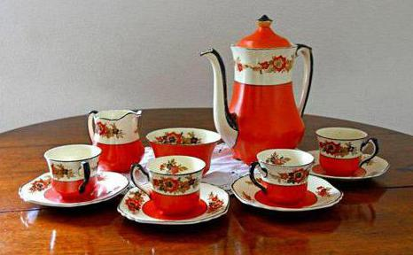 coffee service for 6 persons porcelain