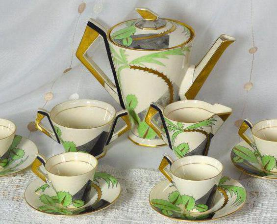 coffee service for 6 persons porcelain japan