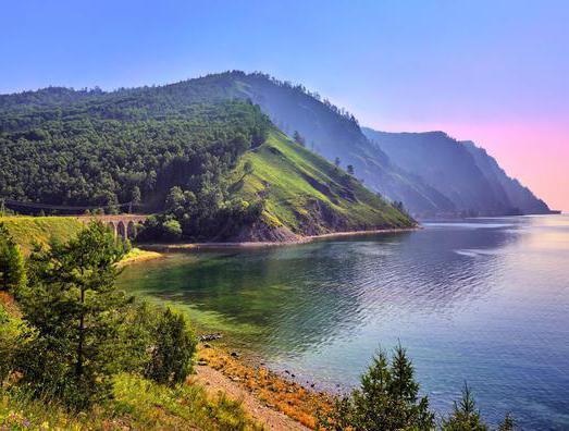 Lake Baikal, the river Selenga