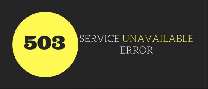 503 service temporarily unavailable что это значит