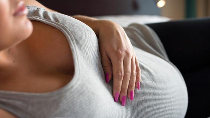 признаки беременности соски