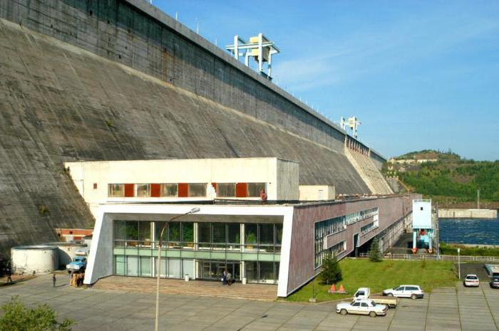 Ust-Ilimsk hydropower station on the river