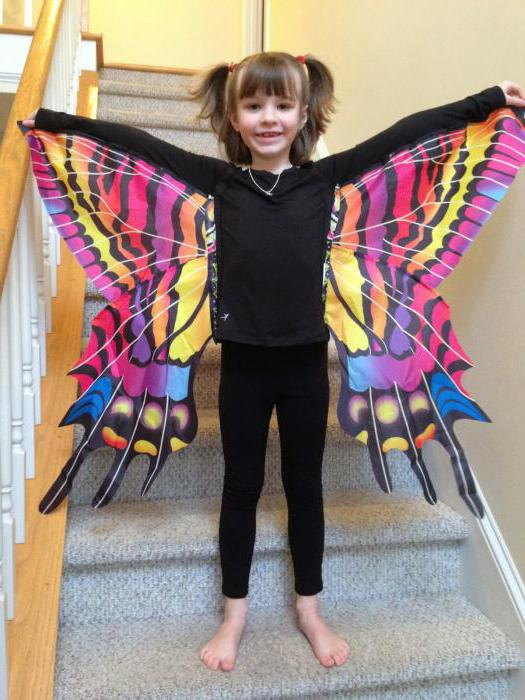 butterfly costume for the girl with their own hands patterns