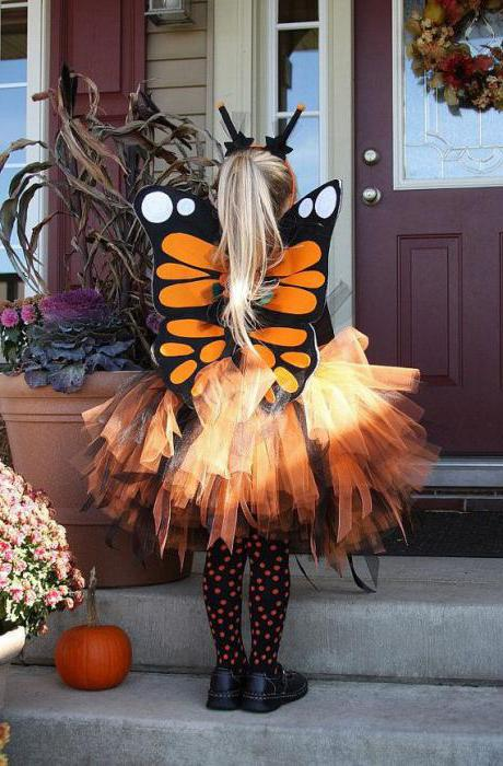 Butterfly costume for girls to sew with their own hands