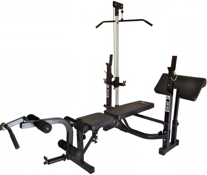 power bench with racks