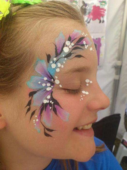 face painting with a face painting