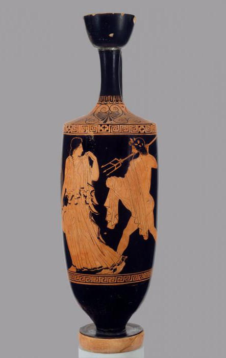 red-figured vase painting of ancient Greece