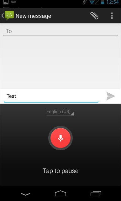 voice input android