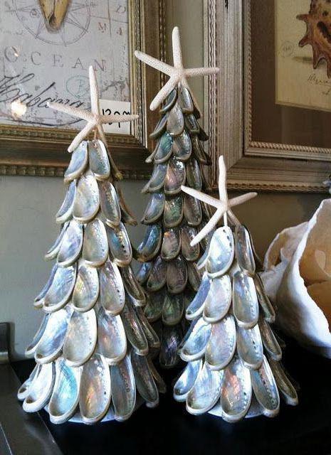 морской топиарий из ракушек