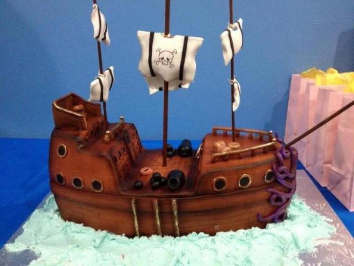 торт корабль своими руками