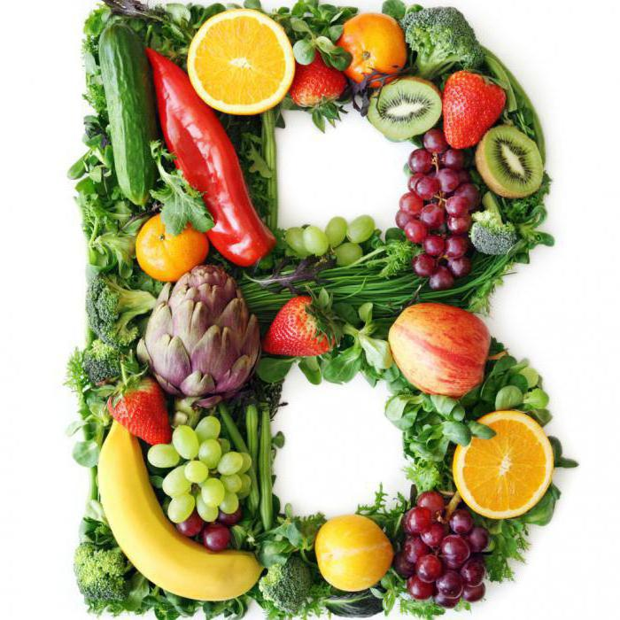 Vitamin B in fruits and vegetables
