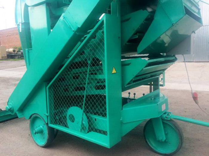 монтаж зерноочистительной машины