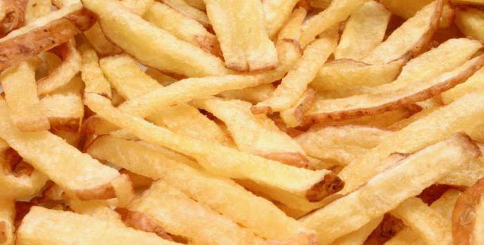пищевая ценность картофеля фри