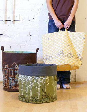 how to sew a basket for toys with their own hands