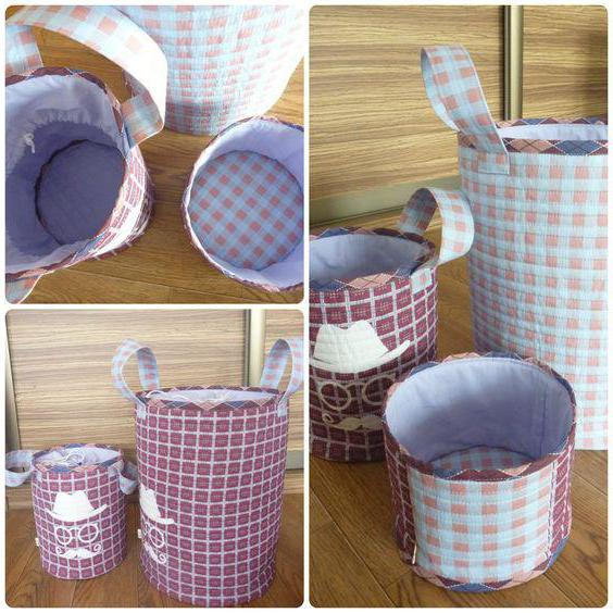 basket for toys do-it-yourself fabric