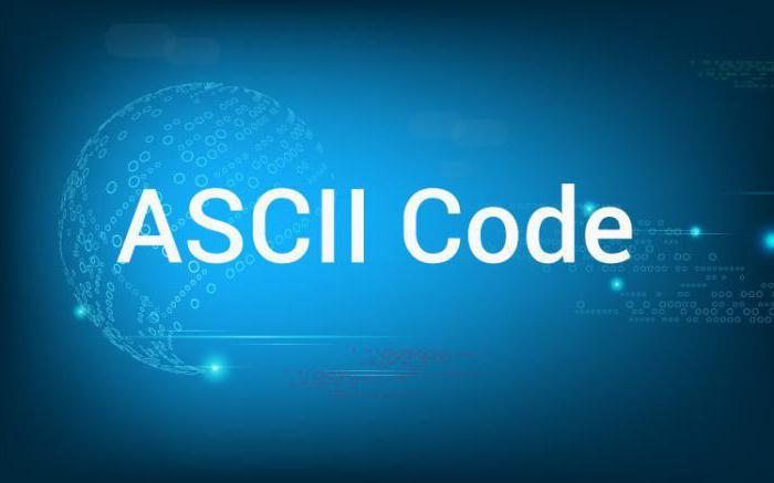 how many ASCII characters