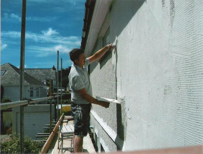 Types of exterior plaster
