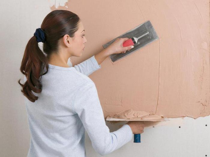 Types of work: plaster