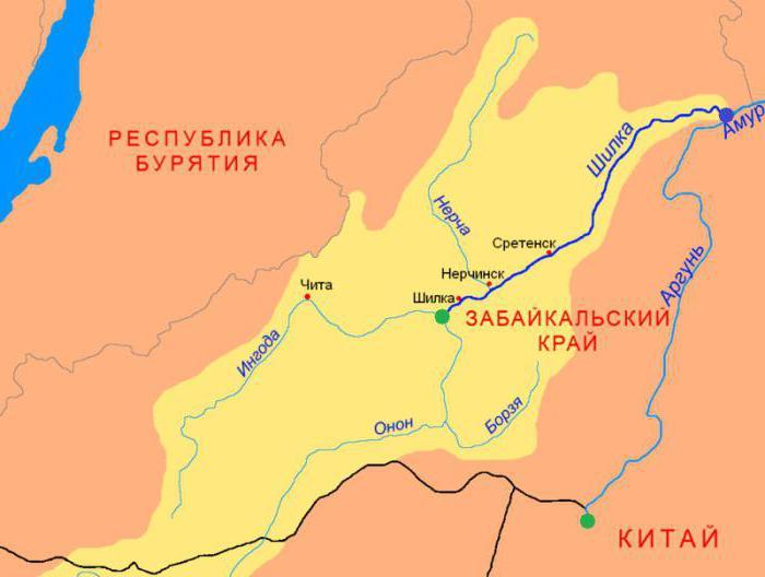 Shilka river Zabaikalsky Krai