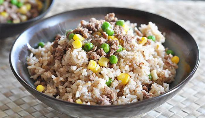 Как сделать рис с фаршем в мультиварке 124