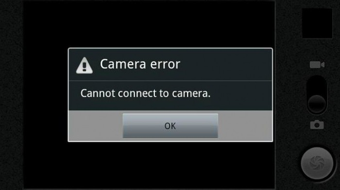 unable to connect to camera
