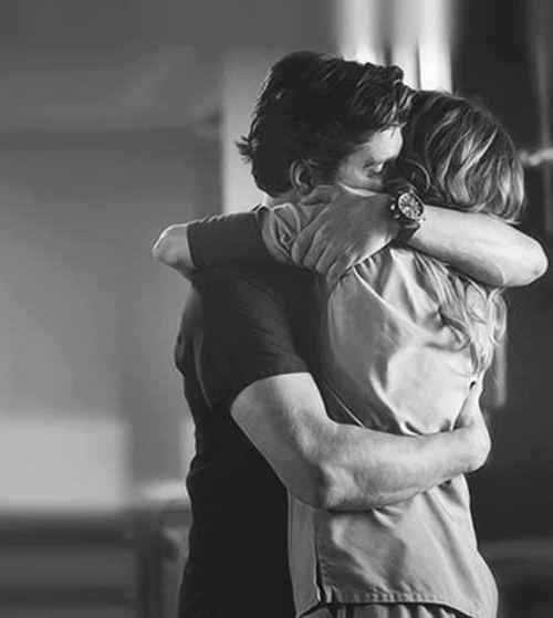 hugging a man in a dream