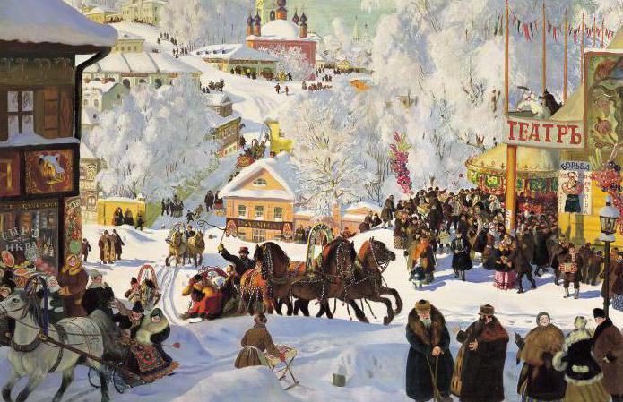 Boris Kustodiyev Shrovetide