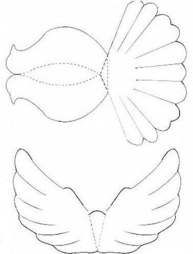 Схема голубя из бумаги объемная схема