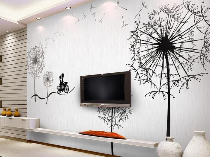 Рисунки своими руками на стене в интерьере 25