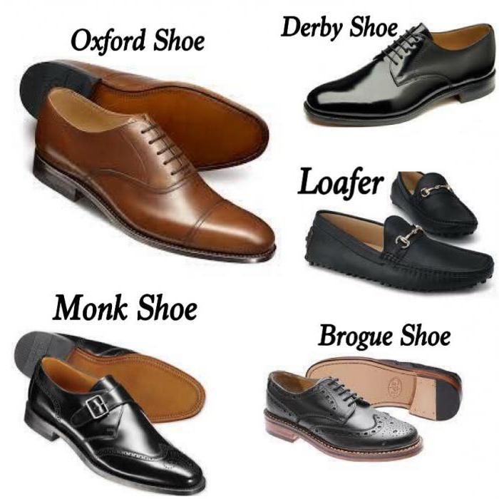 мужская обувь виды и названия с фото что