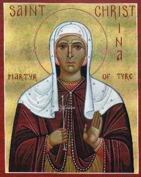 name day of Christina in the church calendar