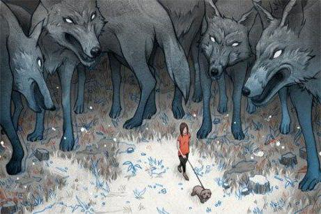 what dreams of a pack of wolves that attacks