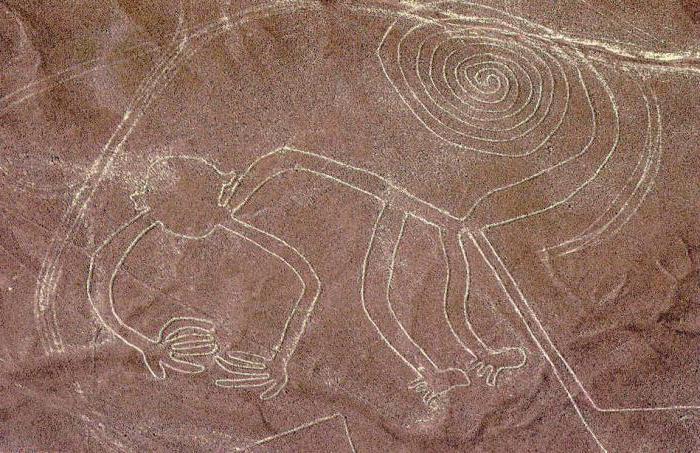 Nazca Plateau drawings in pen