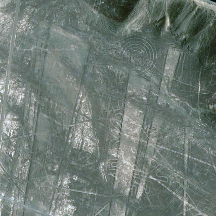 pictures on the Nazca plateau from the satellite