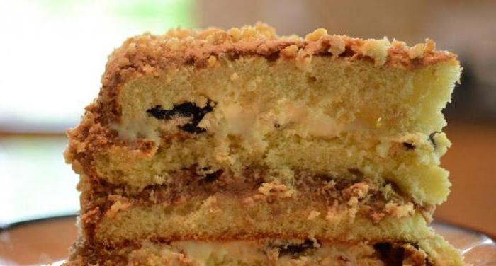 cake with prunes and walnuts step by step recipe