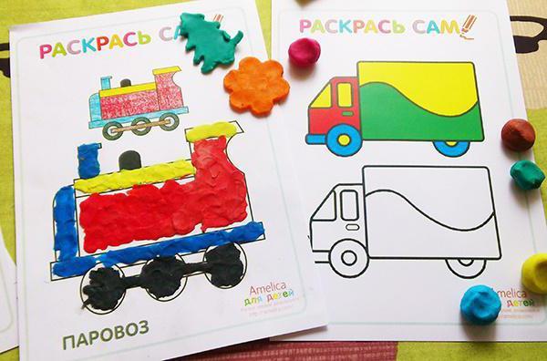 plasticine in kindergarten